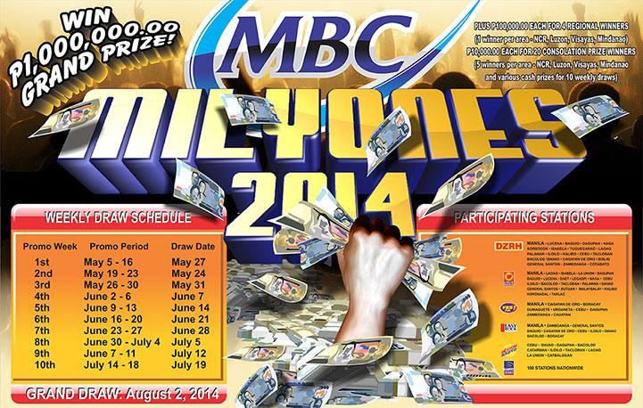 MBC Milyones 2014 - Philippine Radio Station | 101 1 Yes The