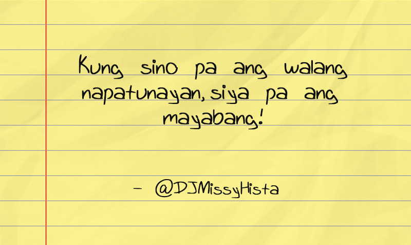 Maldita Lines Tagalog Quotes