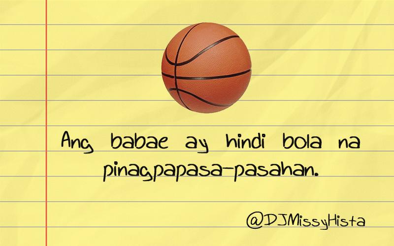 Ang babae ay hindi bola na pinagpapasa-pasahan ...